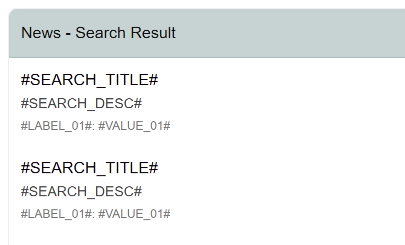 Classic Report Search  Result layout