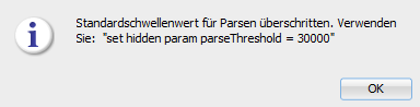 Oracle SQLDeveloper 20.4 set hidden param parseThreshold