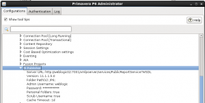 Primavera Administrator Settings BI Publisher
