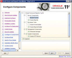 Oracle Reports Installation 11g Screen 9
