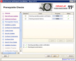 Oracle Reports Installation 11g Screen 4