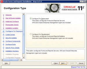 Oracle Reports Installation 11g Screen 6