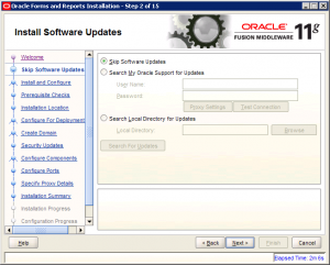 Oracle Reports Installation 11g Screen 2