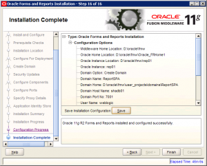 Oracle Reports Installation 11g Screen 16